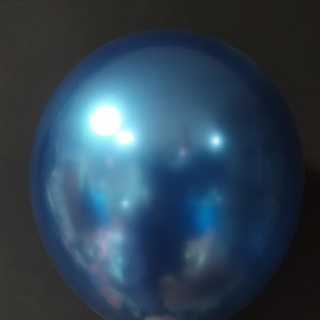 """Латексна кулька хром синій 12"""" Китай"""