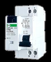 Автомат захисного відключення FAP6-АС   C 10А  IΔn=30mA