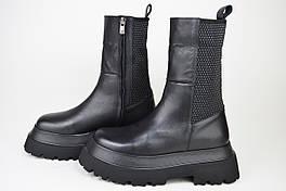Ботинки высокие кожаные Estomod 1030614 Черные