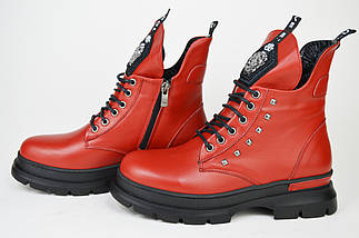 Ботинки зимние Evromoda 463100 кожа, фото 3