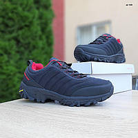Мужские зимние кроссовки в стиле Merrell Vibram черные с красным, фото 1