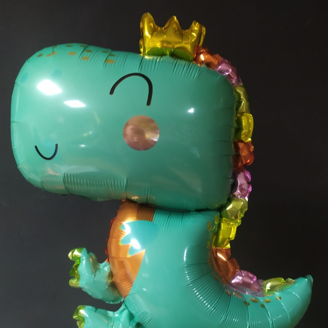 Фольгована кулька велика фігура Динозавр 83х94см Китай упаковка