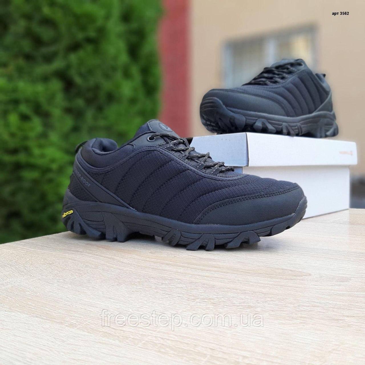 Чоловічі зимові кросівки в стилі Merrell Vibram чорні