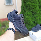 Чоловічі зимові кросівки в стилі Merrell Vibram чорні, фото 5