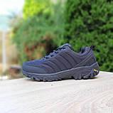 Чоловічі зимові кросівки в стилі Merrell Vibram чорні, фото 7