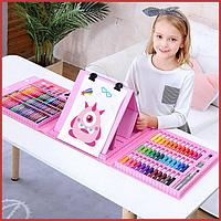 208 шт. Детский художественный набор для рисования и творчества Art Set в удобном кейсе с ручкой + мольтерт