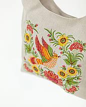 Сумка с украинской вышивкой Жар птица, фото 2
