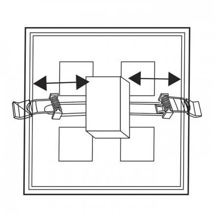 Встраиваемый светодиодный светильник Feron AL706 18W квадрат белый 1350Lm 4000K, фото 2
