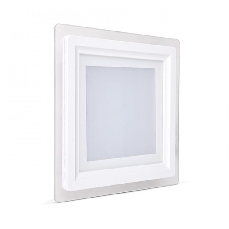 Встраиваемый светодиодный светильник Feron AL2111 6W квадрат белый 480Lm 5000K