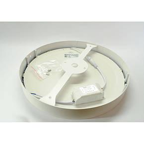 Накладной светодиодный светильник Feron AL504 OL 24W круг белый 1800Lm 4000K, фото 2