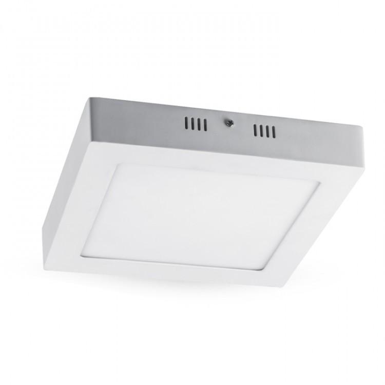 Накладной светодиодный светильник Feron AL505 OL 18W квадрат белый 1350Lm 4000K