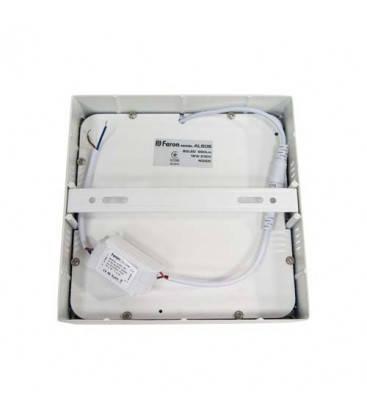 Накладной светодиодный светильник Feron AL505 OL 18W квадрат белый 1350Lm 4000K, фото 2