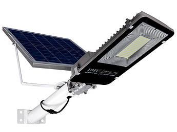 Уличный LED светильник FOYU 100Вт прожектор на солнечной батарее с пультом ДУ свечение 11ч