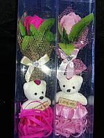 """Мыло сувенирное """"Мишка с розой"""", фото 1"""