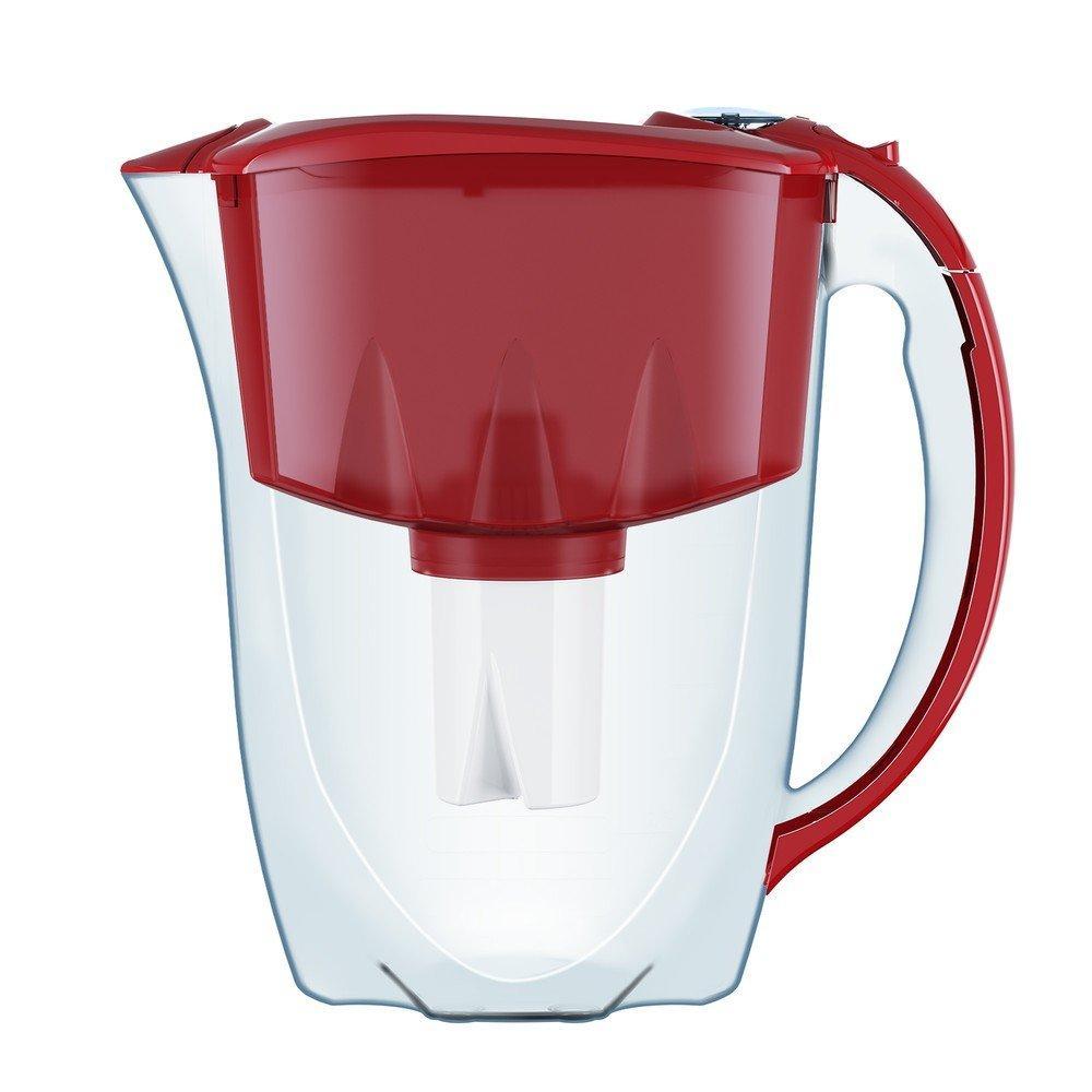 Фільтр-глечик Аквафор Ідеал (червоний) 2,8 л для очищення водопровідної води