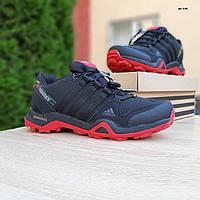 Мужские зимние кроссовки в стиле Adidas Terrex X черные с красным, фото 1