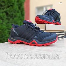 Чоловічі зимові кросівки в стилі Adidas Terrex X чорні з червоним