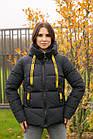 Модная женска укороченая куртка с яркими вставками новинка зима 2020- 2021, фото 3