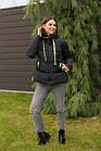 Модная женска укороченая куртка с яркими вставками новинка зима 2020- 2021, фото 2