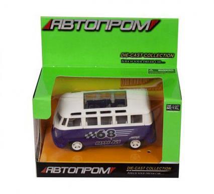 """Машинка """"Volkswagend Bus"""" из серии """"Автопром"""" (фиолетовая) 7827"""
