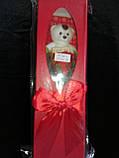 """Мыло сувенирное """"Мишка с розой"""" в упаковке, фото 2"""