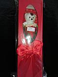 """Мыло сувенирное """"Мишка с розой"""" в упаковке, фото 3"""
