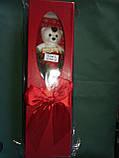 """Мыло сувенирное """"Мишка с розой"""" в упаковке, фото 4"""
