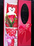 """Мыло сувенирное """"Мишка с розой"""" в упаковке, фото 6"""