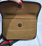 Женская сумка-клатч Gucci из нубука с сертификатом качества 24*17 см, фото 3