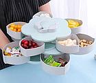 Тарелка для закусок | фруктовница | тарелка для сладкого | вращающаяся тарелка-органайзер, фото 6