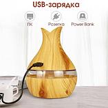 Увлажнитель воздуха аромадиффузор с LED подсветкой ароматизатор Humidifier Atomization Lidht Wood, фото 6