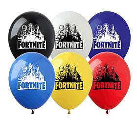"""Латексные шары с рисунком """"Fortnite"""" 12'' (100 ШТ) ТМ SHOW (30 СМ)"""