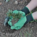 Садовые резиновые перчатки с когтями S-20052, фото 2