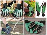 Садовые резиновые перчатки с когтями S-20052, фото 3