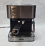 Кофемашина полуавтоматическая DSP Espresso Coffee Maker KA3028 с капучинатором 1,6л 850Bт, фото 5