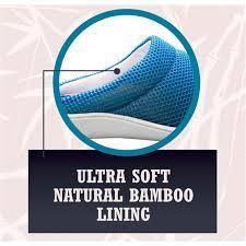 Легкие домашние тапки cool bamboo anti-fatigue gel slippers.