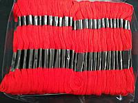 Мулине нити для вышивания и рукоделия 100 мотков по 8 м  (красные), фото 1