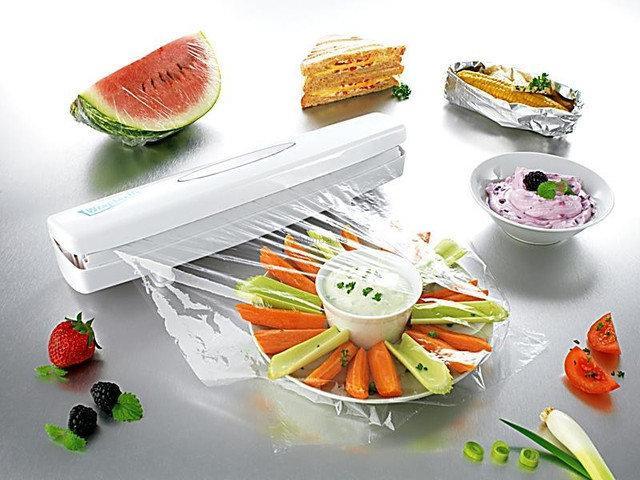 Диспенсер Wraptastic для хранения и разрезания пищевой пленки, фольги, бумаги.