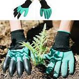 Садовые перчатки с когтями Garden Genie Gloves., фото 4