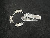 """Декоративная застежка для шубы. Клипса для шубы цвет метала """"серебро"""" L-6,5см, фото 1"""
