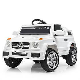Дитячий електромобіль Mercedes (2 мотора за 25W, 2 акум, МР3,USB) Джип Bambi M 2788 EBLR-1 Білий