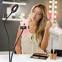 Держатель телефона с подсветкой Professional Live Stream на прищепке,селфи-кольцо (большой)., фото 1