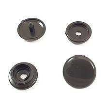 Кнопка пластиковая 12,5 мм Черная 50шт.