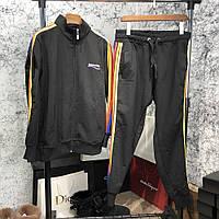 Мужской брендовый спортивный костюм Balenciaga Sport Suit Rainbow Black