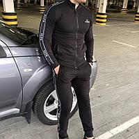 Мужской/молодежный брендовый спортивный костюм Valentino VLTN Bands Black
