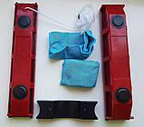 Щетка магнитная для мытья окон с двух сторон Glider для окон толщиной 2-8 мм., фото 5