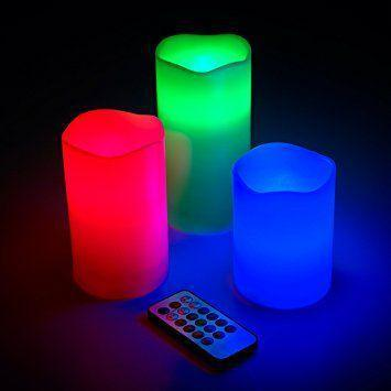 Ночник 3 свечи Luma Candles Color Changing.