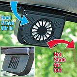 Автомобильный охлаждающий вентилятор Auto Fan на солнечной батарее., фото 3