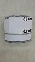Металлическая декоративная цепь Серебро 25 м*1,6 мм