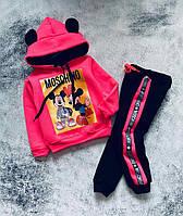 Теплий костюм з вушками для дівчинки Мікі Міккі Міні Мінні 80-86,86-92, 92-98,98
